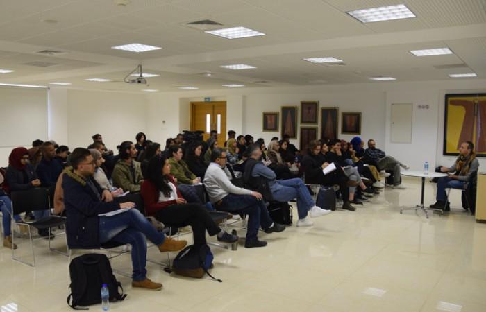 دار الكلمة الجامعية تستضيف المخرج رائد انضوني في ماستر كلاس