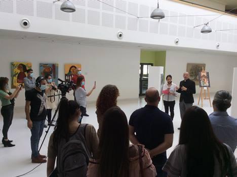 دار الكلمة الجامعية تفتتح معرض جائزة الفنان اسماعيل شمّوط للفن التشكيلي لعام 2020